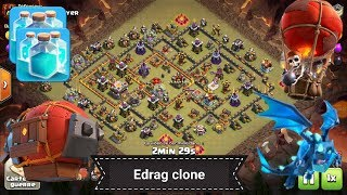 Perfect HDV11 vs HDV11 / Electro dragon + spell clone Clash of Clans