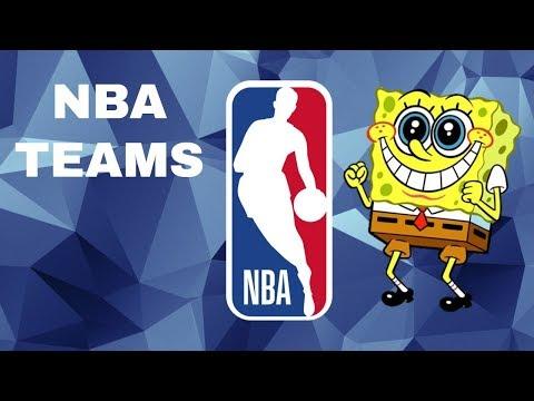 NBA Teams Portrayed by SpongeBob!