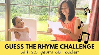 Guess the Rhyme Challenge with my 2.5 years old daughter | Cute video