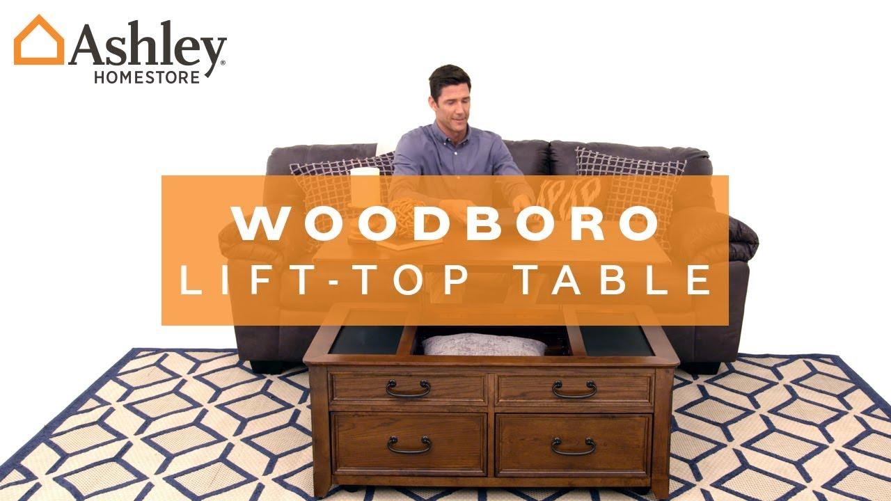 Ashley HomeStore Woodboro LiftTop Table YouTube