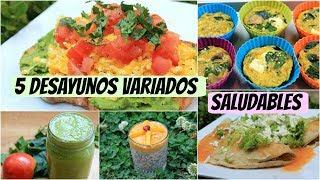 5 Desayunos variados para la semana