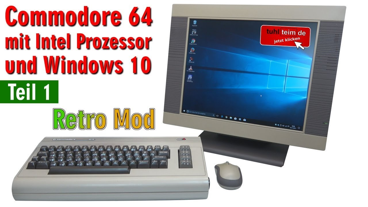 Commodore 64 mit Intel Prozessor und Windows 10 - C64 Retro Mod ...