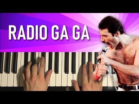 Queen - Radio Ga Ga (Piano Tutorial Lesson)