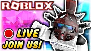 ROBLOX LIVESTREAM 6!! (ROBUX GIVEAWAY @100 subscribers)