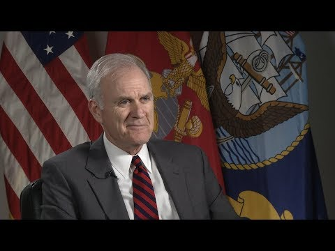 An interview with the Secretary of the Navy by AFN Bahrain