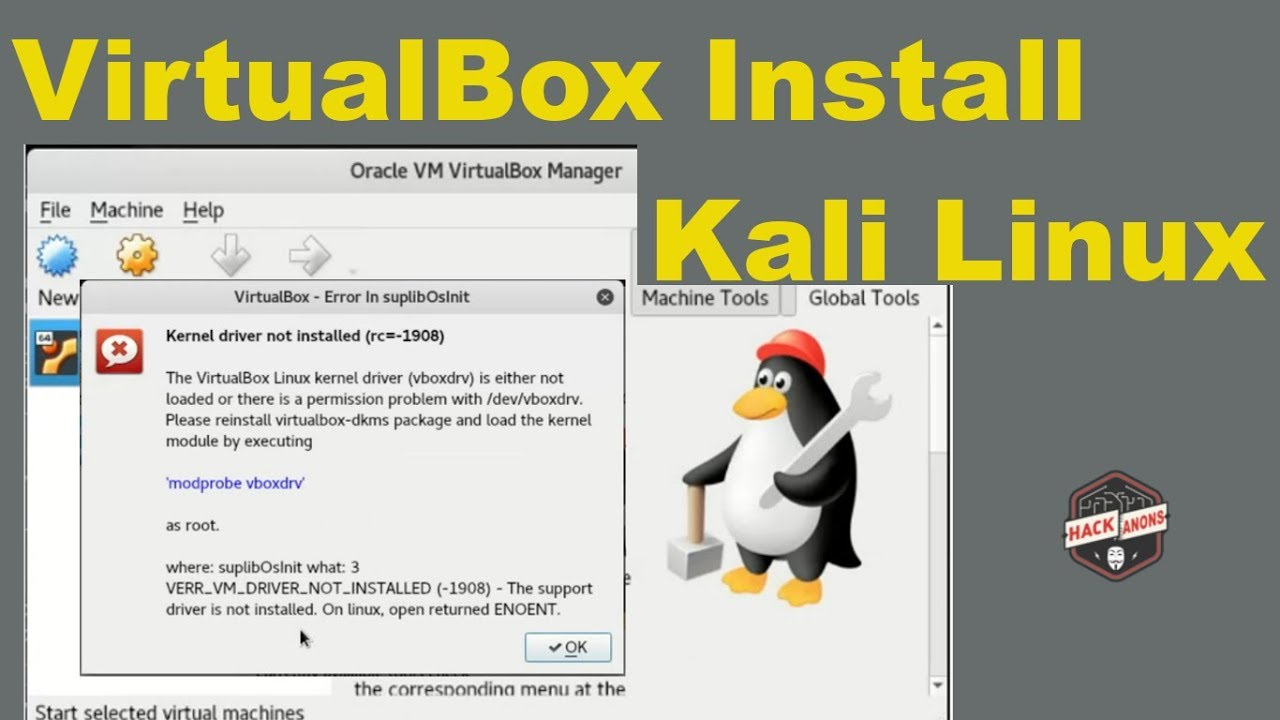 #1432 (VirtualBox kernel driver not installed) – …