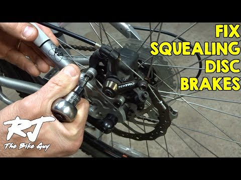 How To Fix Noisy Squeaking Squealing Disc Brakes On A Bike
