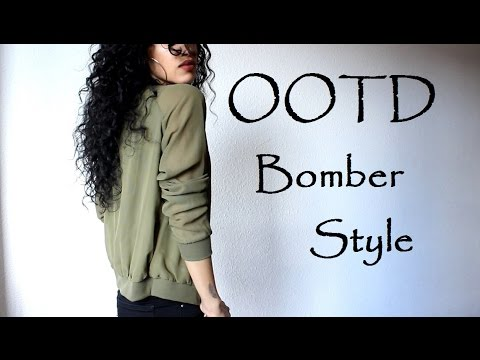 OOTD ~ Bomber Jacket - How To Style Fashion Video| CillasMakeup88