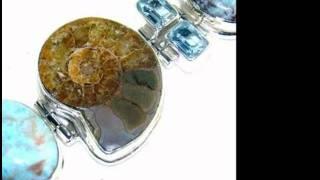 Ammonite Gemstone 925 Sterling Silver Jewelry.wmv