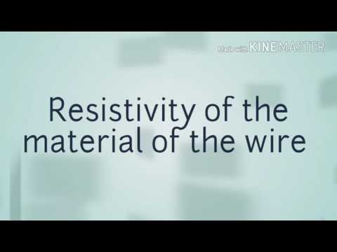 Resistivity of the material of the wire