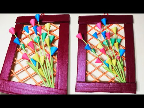 Easy paper flower wall hanging decorations DIY paper flower craft