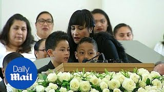 Jonah Lomu's Sons Sang Farewell At Private Funeral Service - Daily Mail