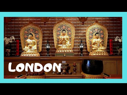 LONDON, a Chinese Buddhist temple (Fo Guang Shan Temple), ENGLAND