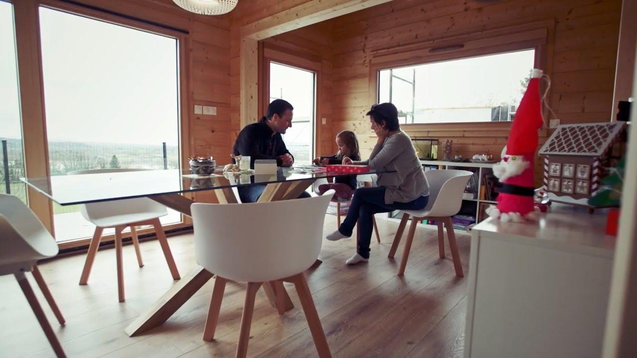 La Maison Du Bois Clairvaux construction d'une maison en bois de 149 m2 à hautecour /  clairvaux-les-lacs dans le jura (39)
