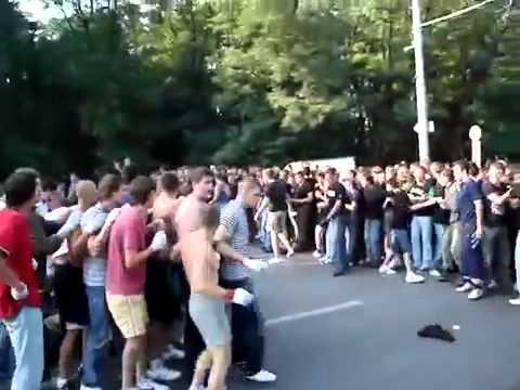 Ustawka Hooligans Fight FK Rostov vs  Lokomotiv Moscow 2014