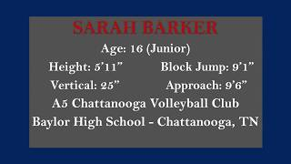 Sarah Barker VB Highlights with Locations