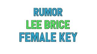Rumor Female Key Karaoke Lee Brice for lyrics song covers.mp3
