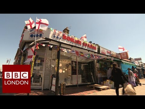 London shop received abuse for flying St. George flags – BBC London News