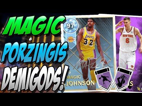 a2cdc8c05 NBA 2K18 MYTEAM DIAMOND MAGIC JOHNSON   AMETHYST KRISTAPS PORZINGIS  GAMEPLAY! WHAT DID I JUST