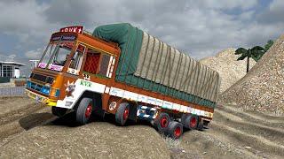 OFFROAD TRUCK SIMULATOR   Ashok Leyland Truck Games   Mud Roads