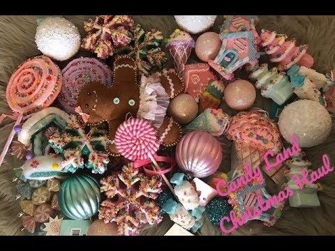 hobby lobby and 99 cent store 2017 christmas candy land inspired ornament haul