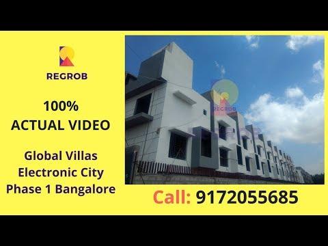 Global Villas Electronic City Phase 1 Bangalore | Actual Video | Call 8688821292