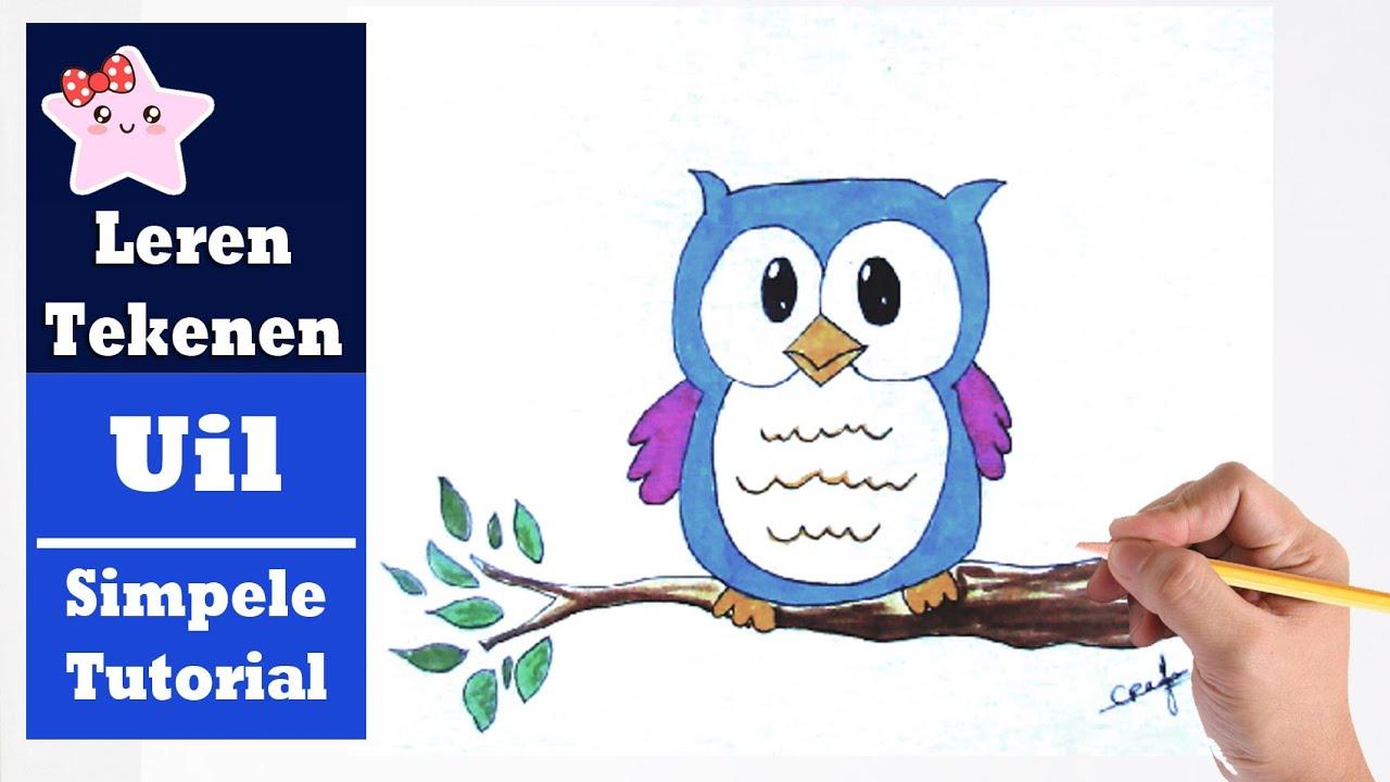 Hoe teken je een uil kawaii beginners tekenen les youtube - Hoe sluit je een pergola ...