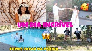 FIZEMOS UM ENSAIO PRE CASAMENTO😍 (PRE WEDDING) - OLHA COMO FOI + SURPRESA DO MARIDO | Dani Mendes