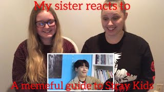 My Sister Reacts To A Memeful Guide To Stray Kids