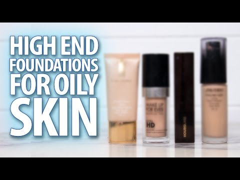 The Best HIGH END Foundations For OILY SKIN  Sharon Farrell