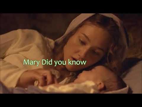 Mary did you Know Instrumental w/Lyrics