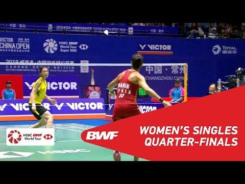 QF | WS | GAO Fangjie (CHN) vs Carolina MARIN (ESP) [6] | BWF 2018