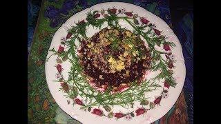 Невероятно вкусный салат из свеклы с грецкими орехами!