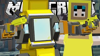 Minecraft | GIANT BANANA ROBOT FIGHT!! | Custom Mod Challenge