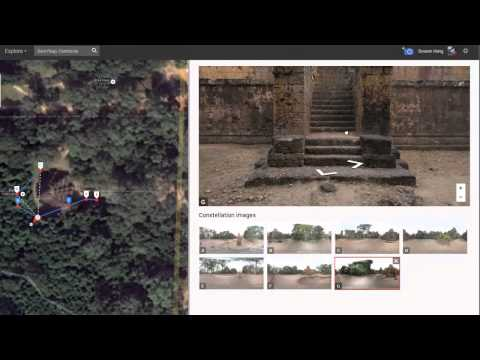 how to connect photospheres to create street view (KM Language)