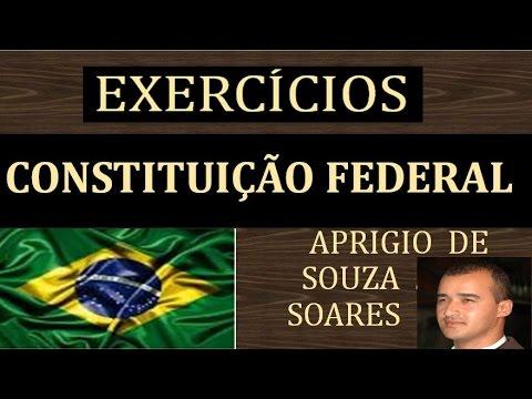 exercÍcios constituiÇÃo federal art 1º ao 4º youtube