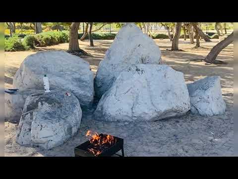 Dubai mamzar park /open beach bbq grill beautiful place