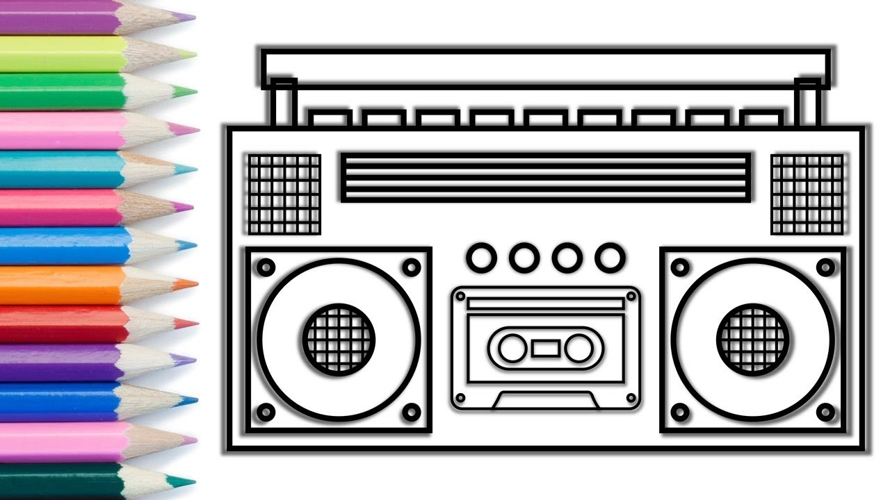 Smiling Radio Coloring Page - Free Home Appliances Coloring Pages ... | 720x1280