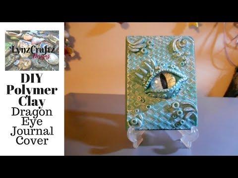 DIY Polymer Clay Dragon Eye Journal Cover