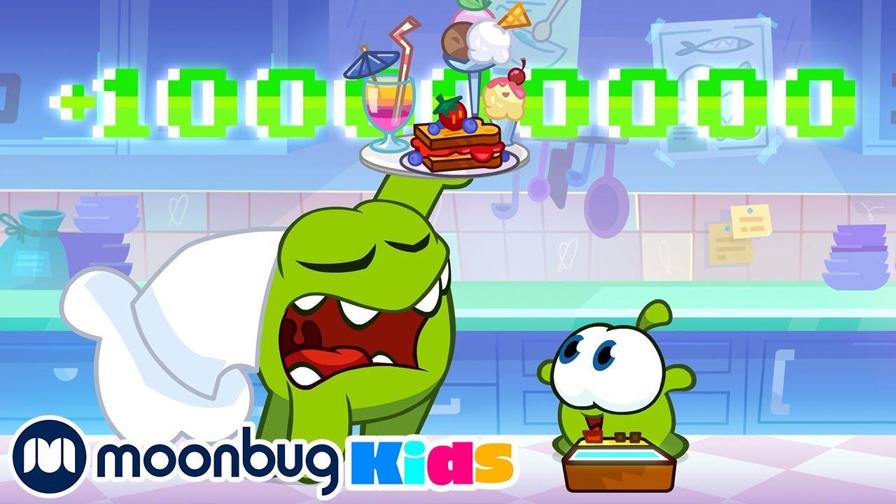 Chef Level!! | Om Nom Stories - Cut The Rope | Funny Cartoons for Kids | Moonbug Kids