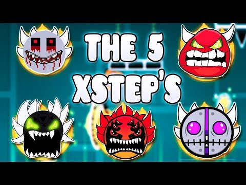 """THE 5 XSTEPS"" !!! - GEOMETRY DASH BETTER & RANDOM LEVELS"