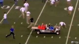 Run Away Golf Cart Hits People at Cowboys Stadium in Texas