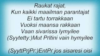 Eppu Normaali - Raukat Rajat Lyrics