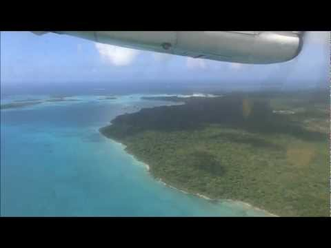 Air Calédonie ATR 42-500 landing at Isle of pines (New Caledonia)