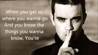 One Direction Ft. Robbie Williams -She's The One- Lyrics On Screen