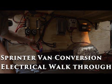 Sprinter Van Conversion Electrical Walk Through - Vanlife