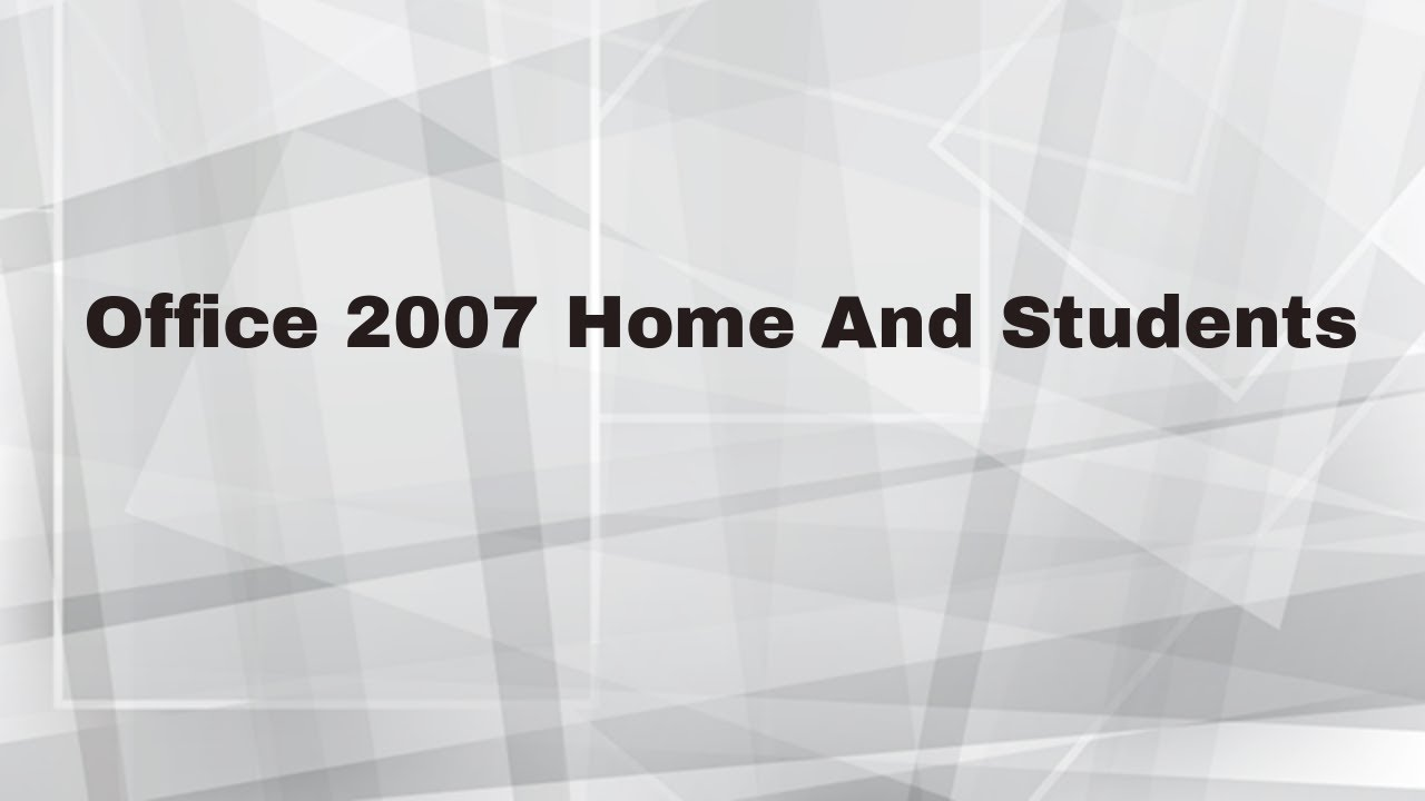 Microsoft Office 2007 Home and Students (Espa…