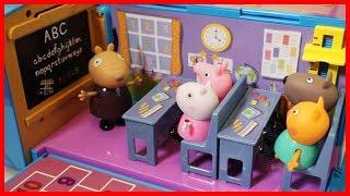佩佩豬粉紅豬小妹粉紅豬小妹在學校的一天玩具故事
