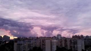 Как образуются облака испарениями из реки, после падения температуры летом.
