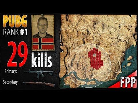 PUBG Rank 1 - jeemzz 29 kills [EU] Solo FPP - PLAYERUNKNOWN\'S BATTLEGROUNDS